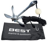 BEST Marine and Outdoors Folding Grapnel Boat Anchor Kit