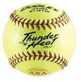 "Dudley 12"" Fast Pitch Leather Softball, 12-Pack"
