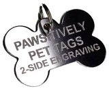 Pawsitively Pet Tags Personalized Stainless Steel ID Tag, Bone