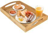 Greenco Rectangle Bamboo Tray