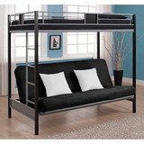 DHP Futon Metal Bunk Bed