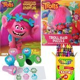 DreamWorks Trolls Coloring Book, Puzzle, and Stamper Activity Set