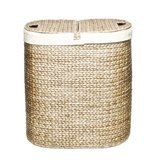 Seville Classics Water Hyacinth Oval Double Hamper