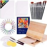 COOL BANK Acrylic Paint Set (48 Piece Painting Supplies + 1 Gift Box)