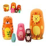 Maxshop Cartoon Animal Nesting Dolls