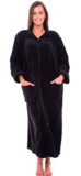 Alexander Del Rossa Women's Relaxed Fit Zip-Front Fleece Robe
