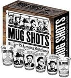 The Unemployed Philosophers Guild 6 Piece Shot Glass Set of Famous Gangster Mugshots