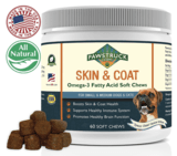 Pawstruck Natural Omega 3 Fish Oil for Dogs