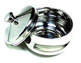 Schone Stainless Steel Shaving Bowl with Lid