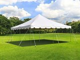 TentandTable White Canopy Pole Tent