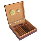 Case Elegance Cherry Finish Spanish Cedar Humidor with Embedded Magnetic Seal