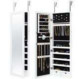 Best Choices Products Mirrored Hanging Jewelry Organizer