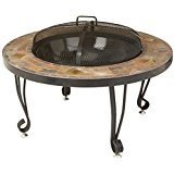 "AmazonBasics 34"" Natural Stone Fire Pit"