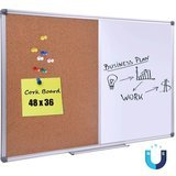 DexBoard Magnetic Dry Erase/Cork Combo Board (48 Inch by 36 Inch)