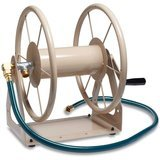 Liberty Garden Products Multi-Purpose Steel Wall and Floor Mount Hose Reel