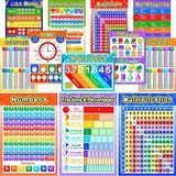 Blulu Educational Math Posters (12 Pieces)