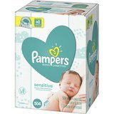 Pampers Sensitive Baby Wipes - 3 packs of 56 wipes