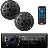 Pyle Bluetooth Marine Stereo Receiver & Speaker Kit