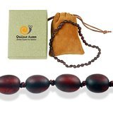 QUALEAP AMBER Raw Cherry Amber Necklace
