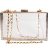 SharPlus Women Cute Clear Acrylic Box Clutch