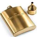Simpler Life Gold Hip Flask Gift Set (8 oz.)