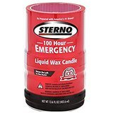Sterno 100-Hour Emergency Liquid Wax Candles, 4-Pack