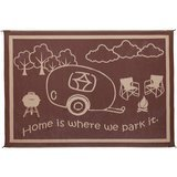 Stylish Camping Brown/Beige 8' x18' Feet RV Home Mat
