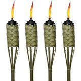 TIKI 57-Inch Luau Bamboo Torches – 4 Pack