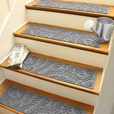 Bungalow Flooring Waterhog Stair Treads, Boxwood Collection