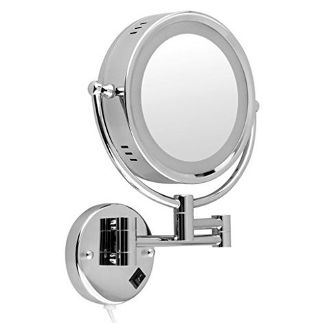 5 best vanity mirrors mar 2018 bestreviews led double sided wall mounted makeup mirror aloadofball Choice Image